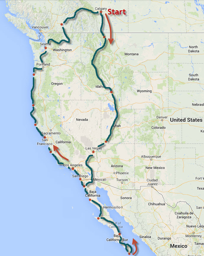 Planned Trip to Cabo and back